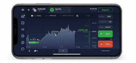 IQ Option mobile platform
